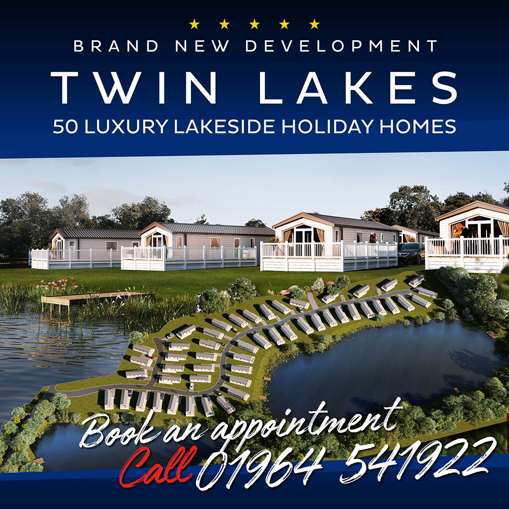 Brand new development. Twin Lakes - 50 Luxury Lakeside holiday homes. Book an appointment - Call 01964 541 922